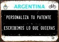 Patente De Chapa Personalizada De Bici Bicicleta