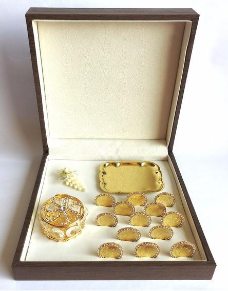 Arras Matrimoniales Zirconia Baño Oro 24k
