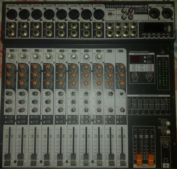 Mesa De Som Soundcraft Sx1202 Fx 12 Canais, Usb Sx1202fx