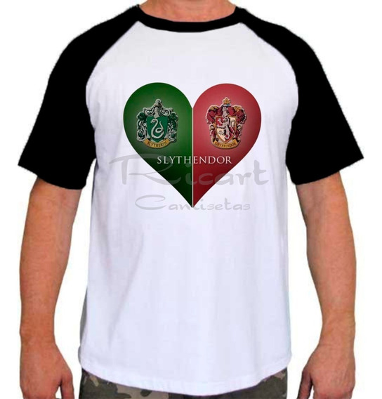 Camiseta Raglan Harry Potter Hogwarts Grifinória Mod 02