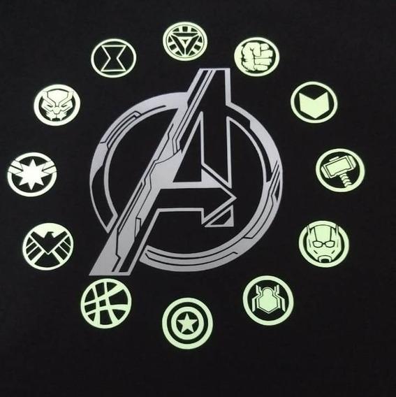 Avengers Endgame Reflejante / Brillo Oscuridad Manga Larga