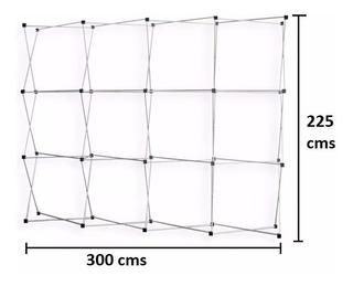 Pared Gráfica Publicitaria De 3.00 X 2.25, Araña De Aluminio