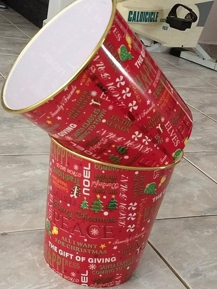 Balde Decorativo Natal Com Seis Unidades Material Plastico R