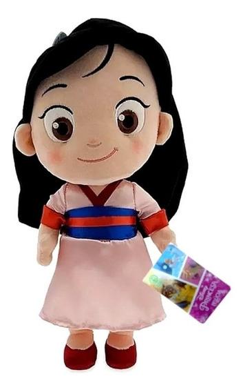 Boneca Princesas Disney Pelúcia Dtc Personagem A Sua Escolha