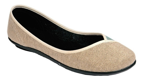 Tovaco Zapato Casual Flats Para Mujer Color Beige Y Cafe