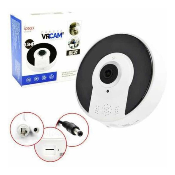 Câmera Vrcam 360º 3d Panorâmica Ip Hd Wifi