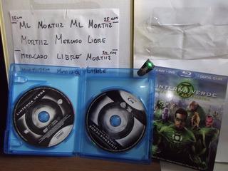 Linterna Verde Bluray + Dvd + Anillo Poder Con Luz