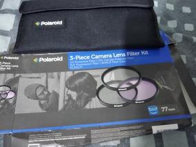 Lente Filtro Camera 77mm Polaroid Pl3fil77 Uv Cpl Fld Box