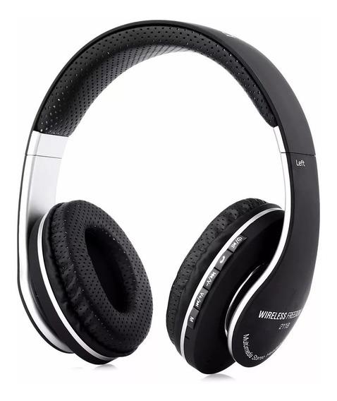 Fone De Ouvido Bluetooth Rádio Fm Microsd 211b Vendas Rápido