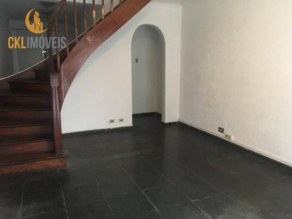 Sobrado Para Alugar, 160 M² Por R$ 4.500/mês - Vila Mariana - São Paulo/sp - So0023