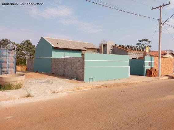 Casa Para Venda Em Várzea Grande, São Matheus, 2 Dormitórios, 1 Banheiro, 2 Vagas - 69_1-1226437