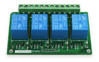 Tarjeta 4 X Relevadores @ 3.3v Megawatt (raspberry, Arduino)