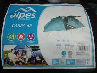 Carpa Para 6 Personas Alpes Outdoor