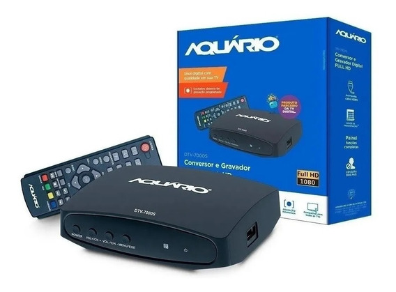 Conversor E Gravador Digital Tv Full Hd Usb Com Cabo Hdmi