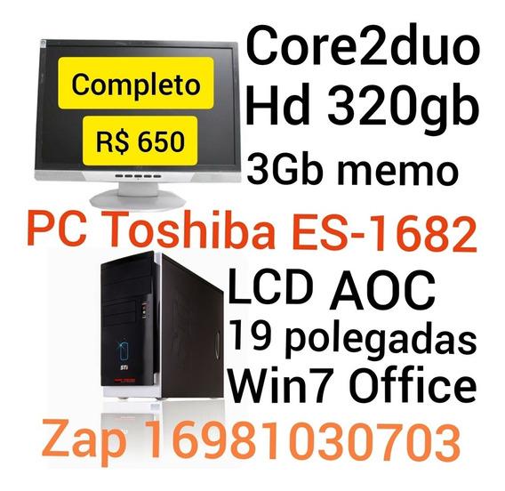 Pc Toshiba Completo Ddr2 Ribeirão Preto