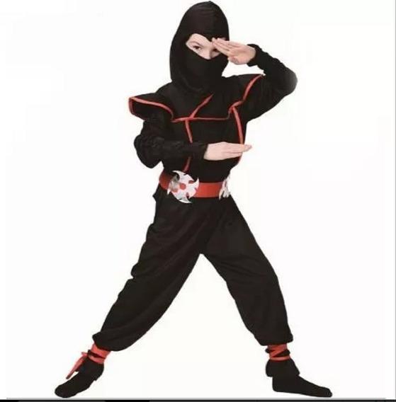 Kit Fantasia Infantil Ninja Completa + Arco E Flechas