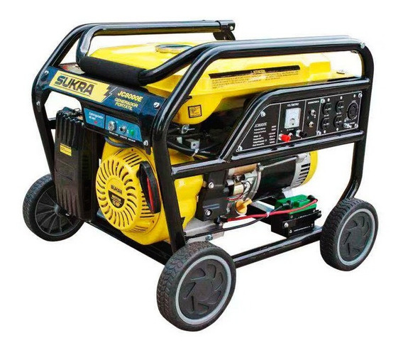 Planta Electrica Jc8000e 7 2kw Con Llantas Sukra Sku39588