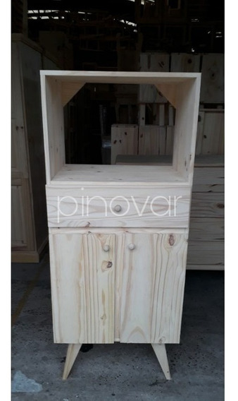 Mueble Porta Microondas Vintage Pino