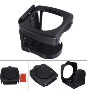 Porta Vaso Plegable Ajustable Para Auto Universal Negro New