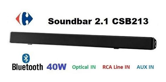 Soundbar 2.1 Bluetooth Csb213 40 W Rms Bivolt Subwoofer