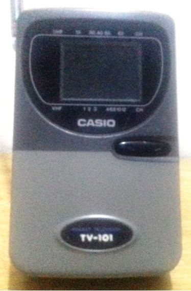 Mini Tv Portátil Casio Tv-101 P/b