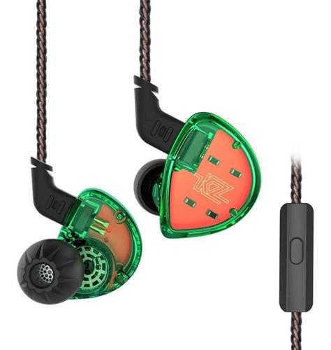 Imagen 1 de 3 de Kz Es4/green Auricular In-ear Sistema Híbrido Carcasa Ergono