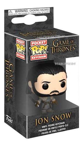 Llavero Pop Game Of Thrones Jon Snow Keychain Funko Scarlet Kids
