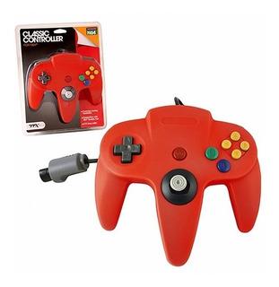 Control Para Nintendo 64 N64 Nuevo De Paquete Ttx Tech Rojo