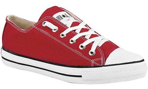 Playing Sneaker Deportivo Textil Rojo Niño N58371 Udt