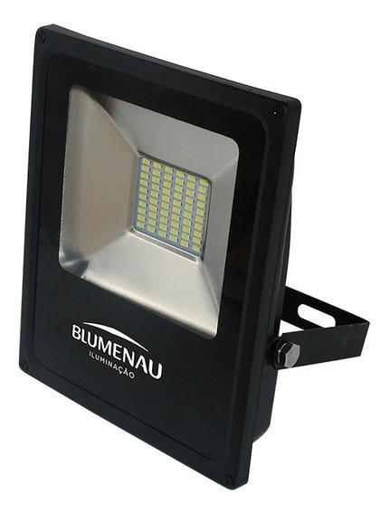 Refletor Blumenau Led Slim Preto 30w 3000k Bivolt