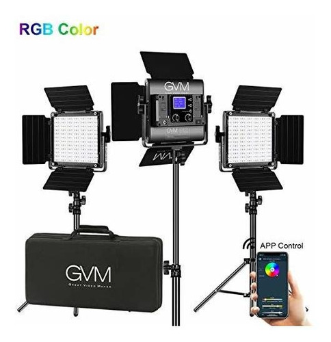 Gvm 480 Led Panel De Video Luz Regulable Bicolor Camara En C