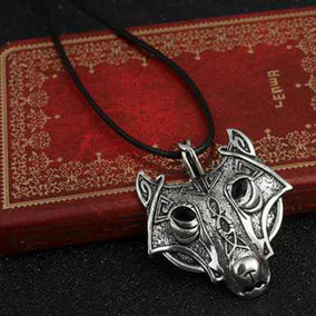 Colar Lobo Nórdico Guardião Fenrir Mitologia Wolf Pagan