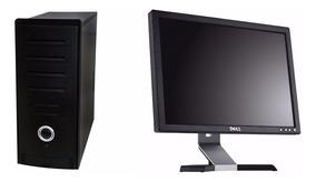 Computador Completo Intel Dual Core + Monitor 15 Garantia