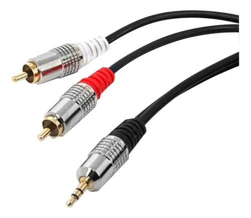 Cabo De Audio Starcable P2 X 2 Rca Plug Metal  3 Metros
