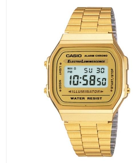 Relógio Dourado Vintage Retrô