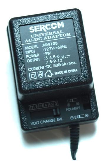 Cargador Universal Sercom 500ma Ac-dc 9w