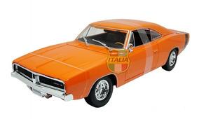 Dodge Charger R/t 1969 Maisto 1:18 Laranja