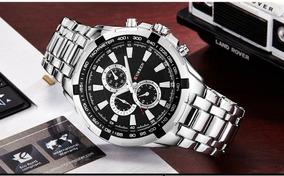 Relógio Curren 8023 Aço Inoxidável Resistente Água 30m Prata