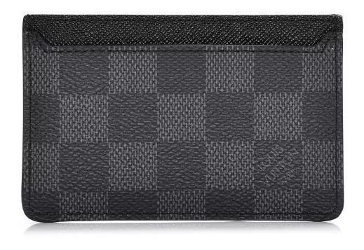 Porta Cartões Louis Vuitton Neo Damier Graphite Em Couro