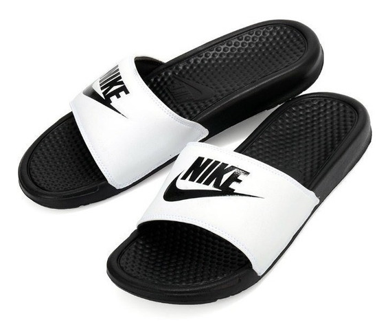 Nike Benassi Jdi - Blanco Y Negro