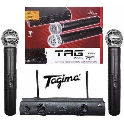 Tagima Tag Sound Microfone Dinâmico Sem Fio Duplo Tm559b