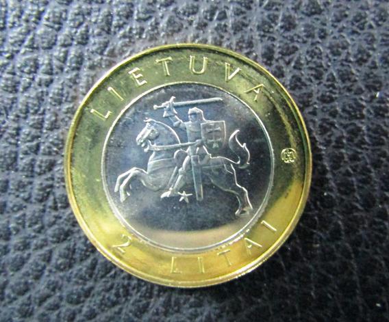 Lituania Moneda Bimetalica 2 Litai 2012 Unc Druskininkai