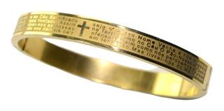 Pulseira Pai Nosso Dourado Aço Steel 316l Promoção Hoje.....