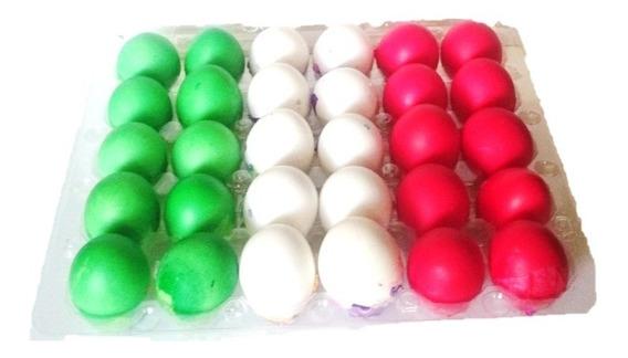 Huevos De Confeti Tricolor Navidad / Fiestas Patrias 350 Pza