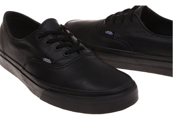 Vans Authentic De Piel Leather Negros 100% Originales Unisex
