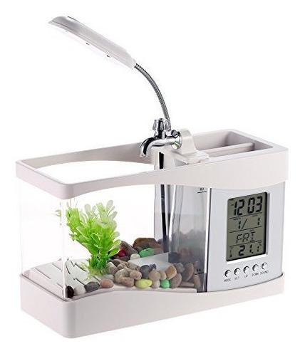 Docooler Usb Desktop Mini Fishsmall Tanque De Acuario Con Re
