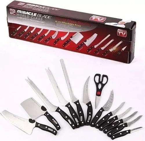 Set De Cuchillos Profesionales Mibacle Blade X 13 U