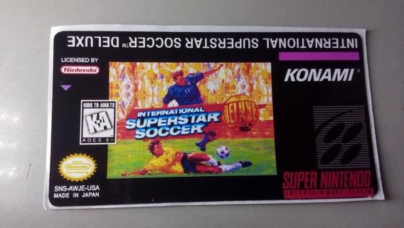 Label International Superstar Soccer Snes Super Nintendo
