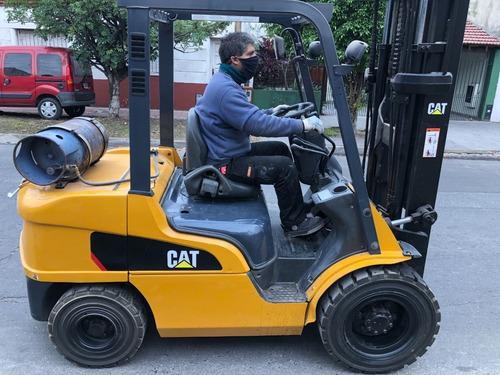 Autoelevador Caterpillar 3 Tn Con Posicionador De Uñas 4 Via