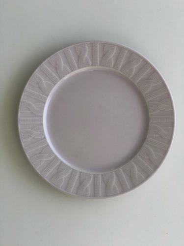 Plato Postre 20 Cms Ceramica Rosa Pastel Kuthaya Turquia